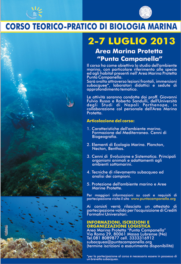 Corso teorico-pratico di Biologia Marina - 2013