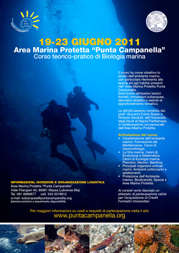 Corso teorico-pratico di Biologia Marina - 2011