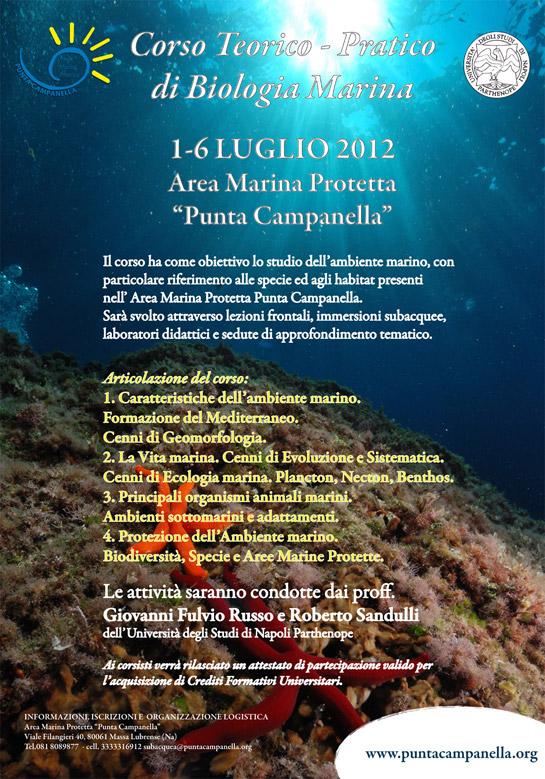Corso teorico-pratico di Biologia Marina - 2012