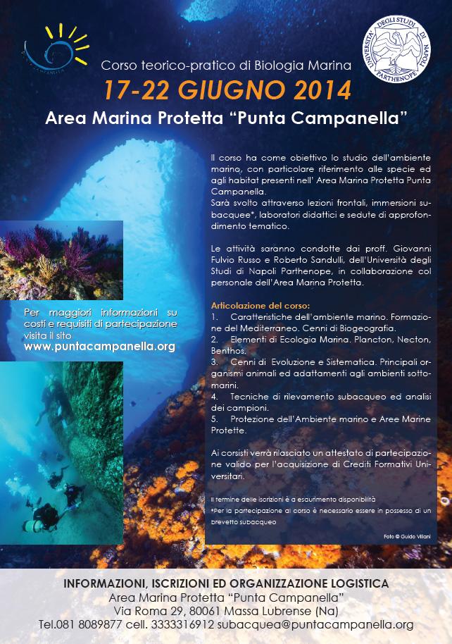Corso teorico-pratico di Biologia Marina - 2014