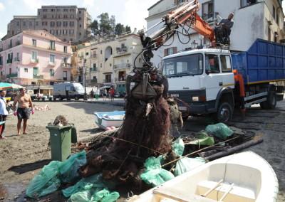 Pulizia dei fondali di Marina Grande, Sorrento