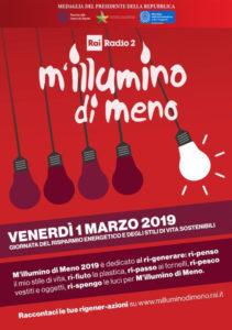 """Campagna """"M'Illumino di meno 2019"""""""